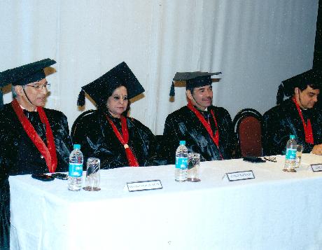 L to R - Mr. Niranjan Hiranandani, Ms. Manju Nichani, Mr. Gunit Chadha, Mr. Anil Harish